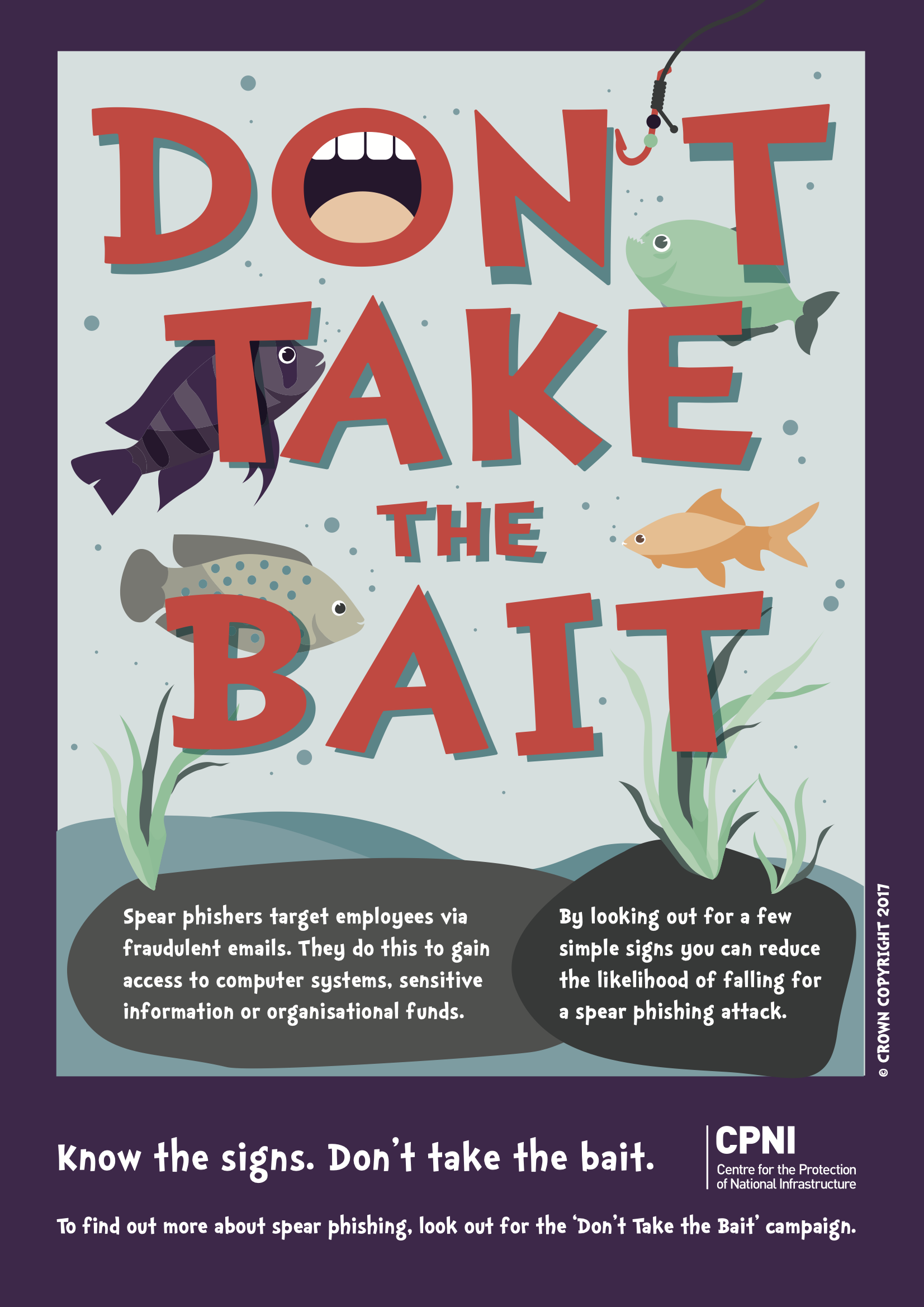'Don't take the bait!' poster