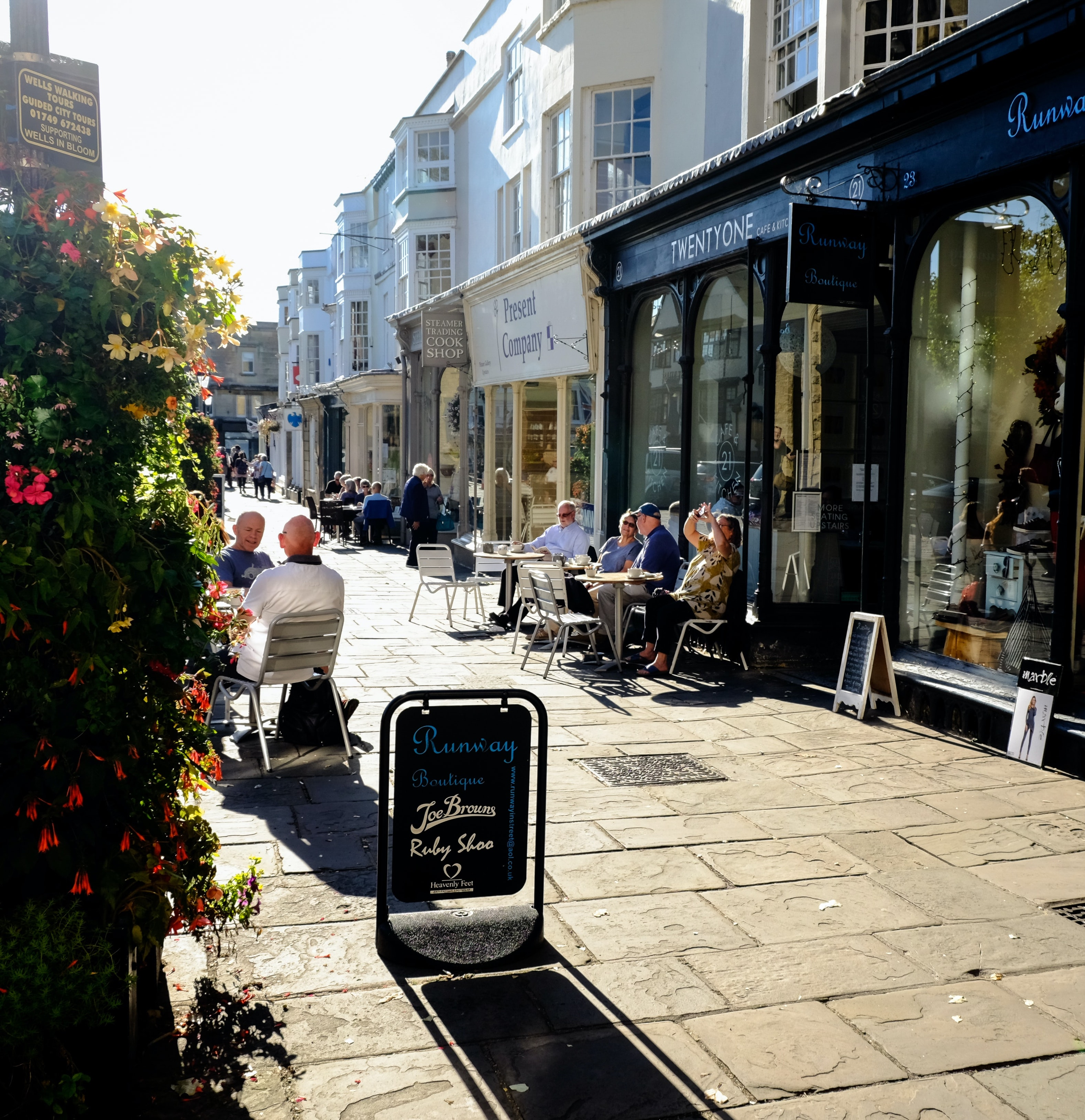 Somerset pavement with tables