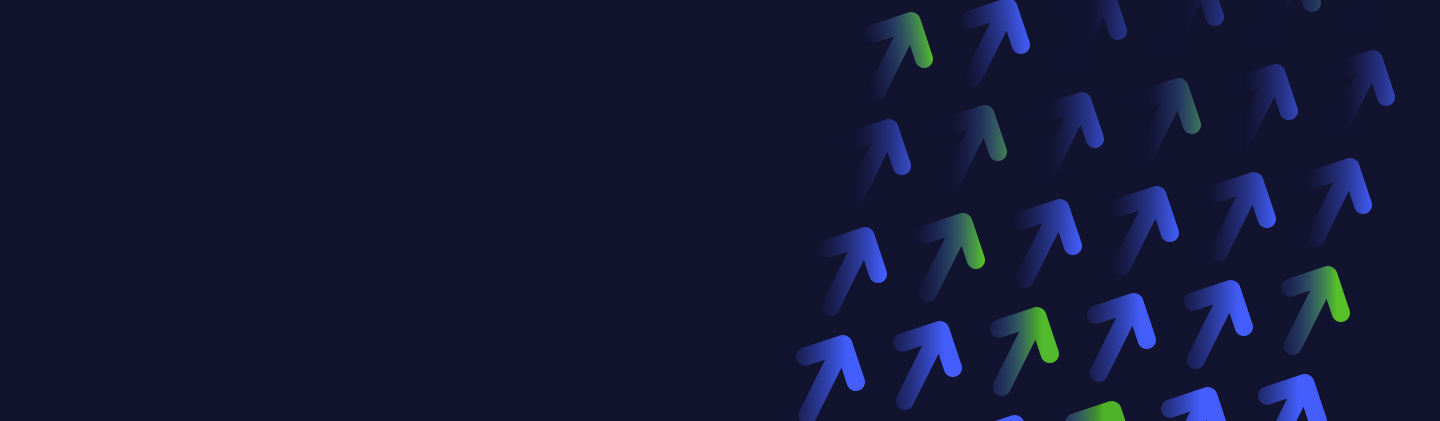 Background image with blue and green upward arrows
