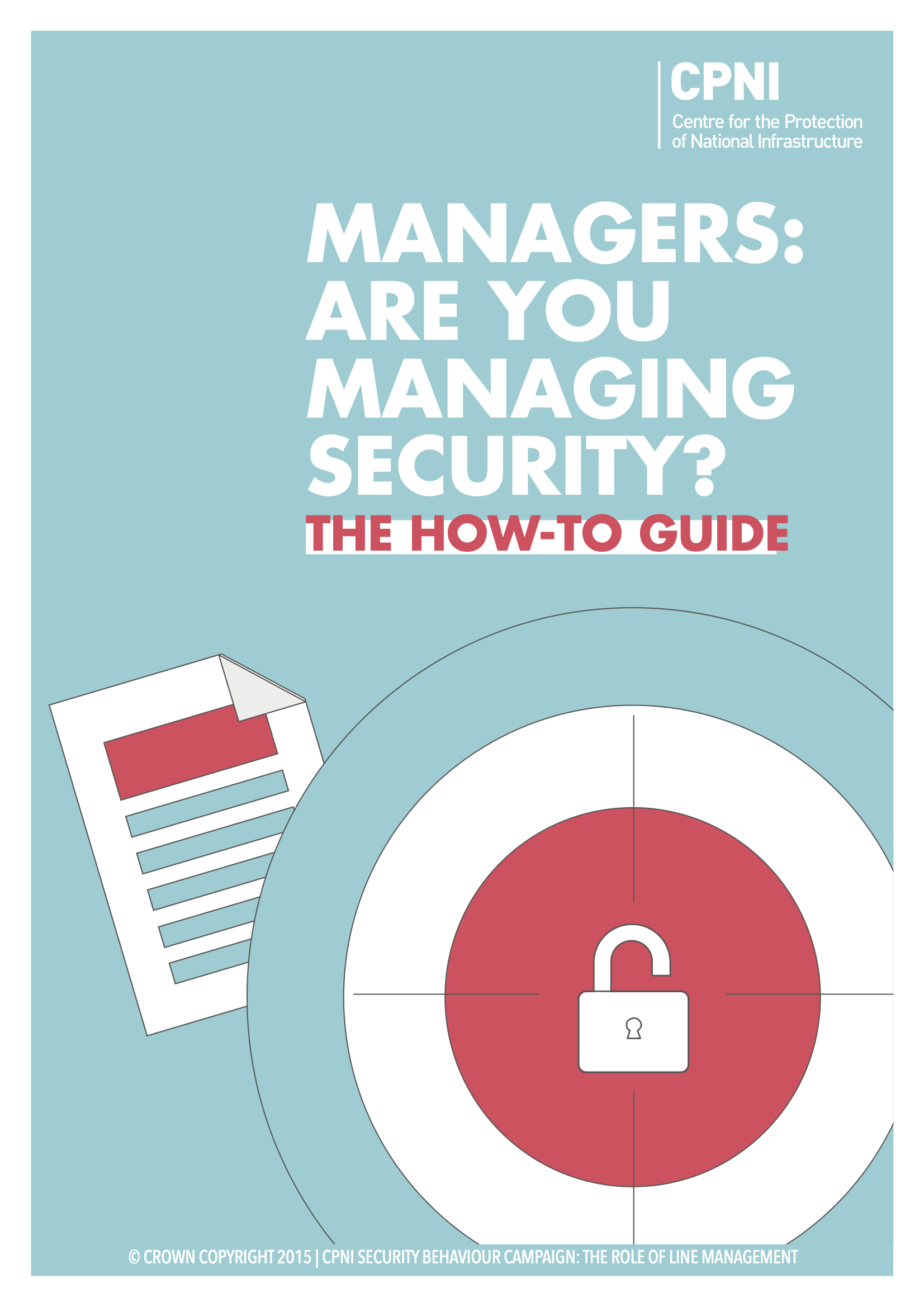 Line Managers Campaign front cover