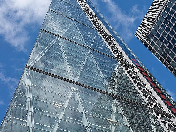 Glass skyscrapper building