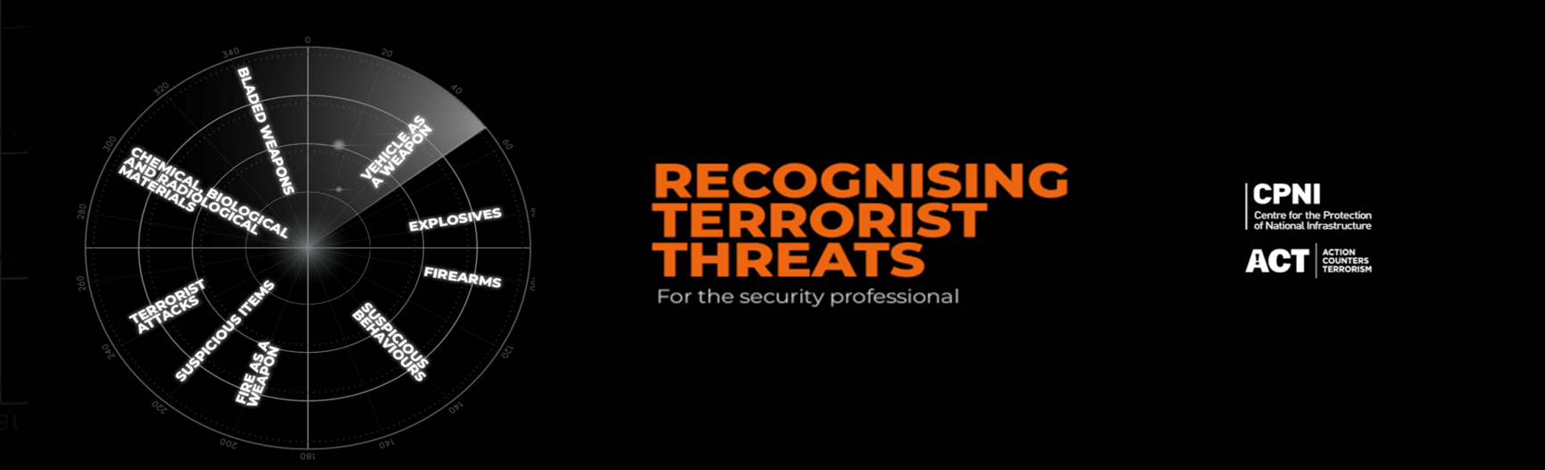 Front cover Recognising terrorist threats guidance